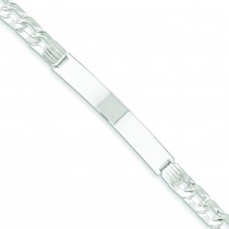 Fancy ID Link Bracelet in Sterling Silver