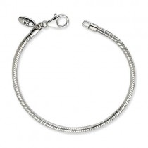 Lobster Clasp Bead Bracelet in Sterling Silver