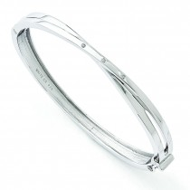 Crossover Bangle Bracelet in Sterling Silver
