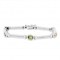 Multicolor Bracelet in Sterling Silver