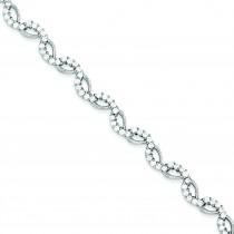 CZ Bracelet in Sterling Silver