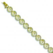 Diamond Accent Circle Bracelet in Sterling Silver