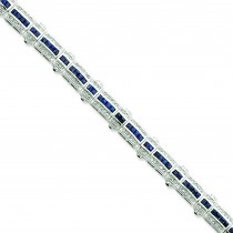 Sapphire CZ Bracelet in Sterling Silver