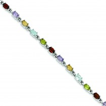 7inch Rainbow Bracelet in Sterling Silver
