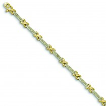 Diamond Accent X Bracelet in Sterling Silver
