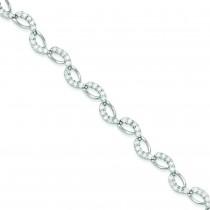 Fancy CZ Bracelet in Sterling Silver