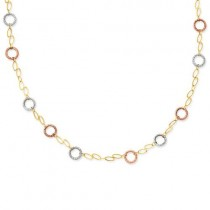 Circles Bracelet in 14k Tri-color Gold