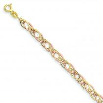 Oval Link Bracelet in 14k Two-tone Gold