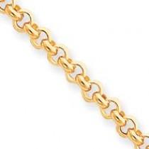 7.5in 5mm Rolo Link Bracelet in 14k Yellow Gold