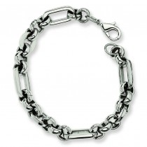 Fancy Link Bracelet in Stainless Steel