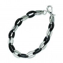 Stainless Steel Black Color Ip-Plated Fancy Bracelet in Stainless Steel