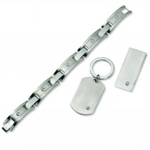Money Clip Key Chain Set in Stainless Steel