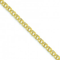 Lite 5mm Double Link Charm Bracelet in 14k Yellow Gold