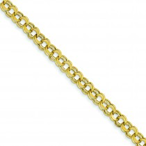 Lite 5.5mm Double Link Charm Bracelet in 14k Yellow Gold