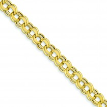 Lite Double Link Charm Bracelet in 14k Yellow Gold