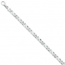 6.0mm Fancy Link Bracelet in 14k White Gold