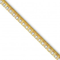 AA Diamond Tennis Bracelet in 14k Yellow Gold
