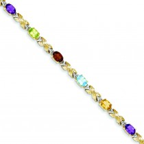 RainboDiamond Bracelet in 14k Yellow Gold