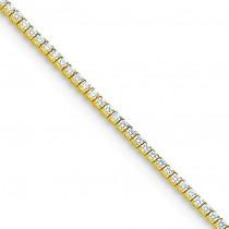 AA Diamond Tennis Bracelet in 14k Yellow Gold