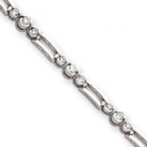 AA Diamond Tennis Bracelet in 14k White Gold