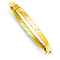 Solid Hinged Bangle Bracelet in 14k Yellow Gold