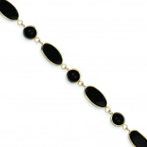 Onyx Bracelet in 14k Yellow Gold