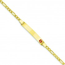 Medical Jewelry Bracelet in 14k Yellow Gold
