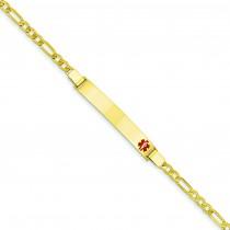 Medical Jewelry Bracelet in 14k Yellow Gold
