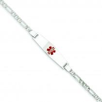 Medical Jewelry Bracelet in 14k White Gold