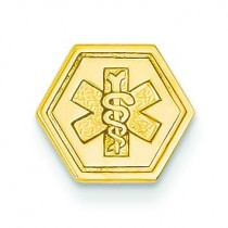 Attachable Medical Emblem Charm in 14k Yellow Gold