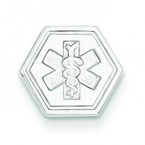 Medical Jewelry Pendant in 14k White Gold