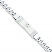 Medical ID Curb Link Bracelet in Sterling Silver