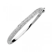 Diamond Bangle Bracelet in 14k White Gold (1.5 Ct. tw.) (1.5 Ct. tw.)