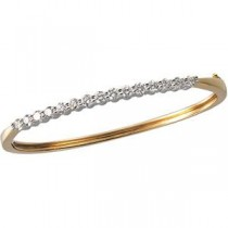 Diamond Bangle Bracelet in 14k Two-tone Gold (2 Ct. tw.) (2 Ct. tw.)