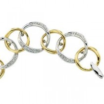 Diamond Bracelet in 14k Two-tone Gold (0.75 Ct. tw.) (0.75 Ct. tw.)