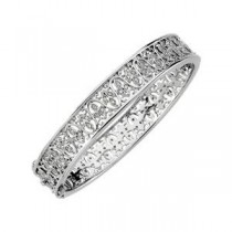 Diamond Bangle Bracelet in 14k White Gold (0.5 Ct. tw.) (0.5 Ct. tw.)