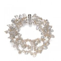 Cultured Pearl Bracelet in Sterling Silver