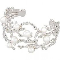 Pearl Cuff Bracelet in Sterling Silver