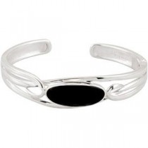 Checkerboard Onyx Cuff Bracelet in Sterling Silver
