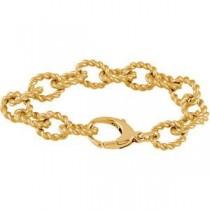 Gold Plated Link Bracelet in Sterling Silver