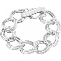 Link Bracelet Toggle Clasp in Sterling Silver