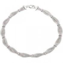 Braided Mech Bracelet in Sterling Silver