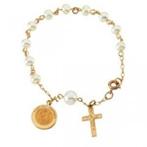 Rosary Bracelet in 14k Yellow Gold