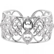 Inch Diamond Cuff Bracelet in Sterling Silver (0.33 Ct. tw.)