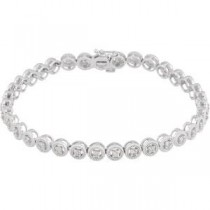 Diamond Bracelet in 14k White Gold