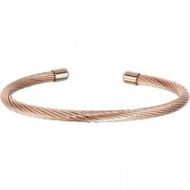 Wire Cuff Bracelet in Stainless Steel