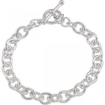Cable Bracelet Clasp in Sterling Silver