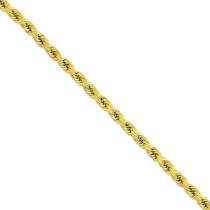 14k Yellow Gold 20 inch 8.00 mm Handmade Diamond-cut Rope Chain Necklace