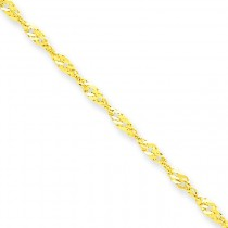 10k Yellow Gold 8 inch 1.70 mm  Singapore Chain Bracelet