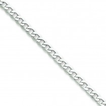 14k White Gold 7 inch 4.30 mm Light Curb Chain Bracelet